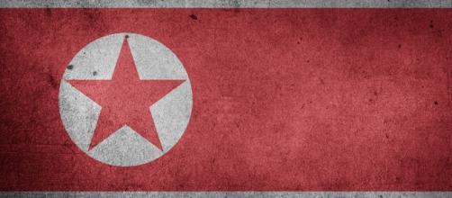 L'étendard de la Corée du Nord.