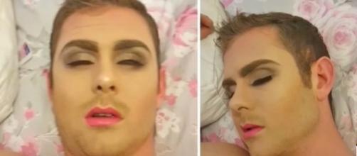 Nada satisfeita com a atitude de Stephen, Natalie colocou em ação os planos de se vingar passando maquiagem no rapaz.