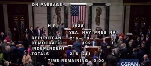Passage of American Healthcare Act in House on May 4. / Photo by CSPAN via YouTube