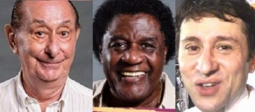 ''Zorra Total'' demite 12 humoristas para enxugar a atração (da esquerda para direita: José Santa Cruz, Toni Tornado e Tadeu Melo são três deles)