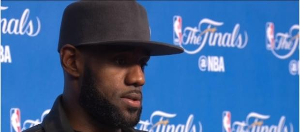 LeBron James is aware of his opponent's might. [Image via Youtube/LeBronJames]