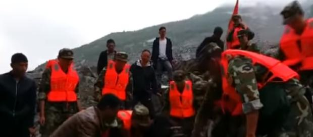 More than 100 missing after landslide in China via YouTube/euronews