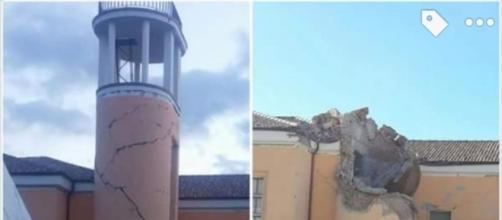 Amatrice. Prima e dopo la scossa di magnitudo 6.5 di domenica 30 ottobre 2016.
