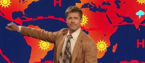 Brad Pitt as a weatherman/photo via - digitalspy.com