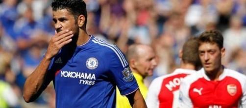 Chelsea forward Diego Costa in action against Arsenal. - premierleague.com