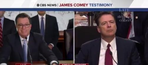 Stephen Colbert on James Comey, via Twitter