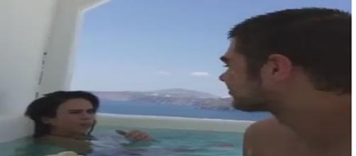 Tatá Werneck e Rafael Vitti parecem engatar namoro na Grécia