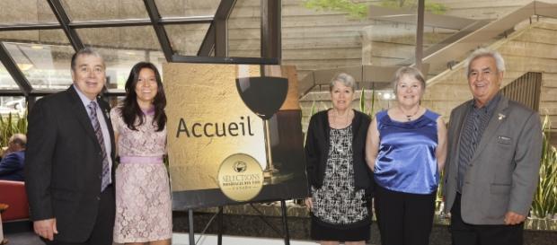 Il direttore Nancy Rossi e gli altri organizzatori del Concorso Internazionale Sélections Mondiales des Vins Canada