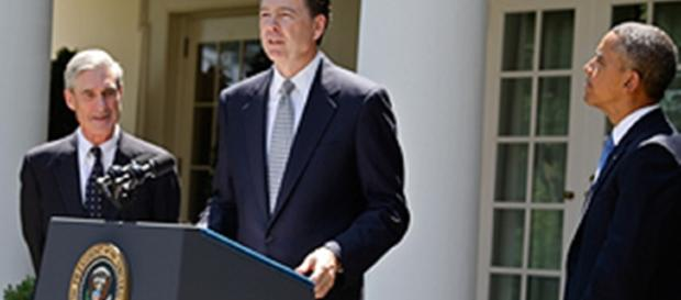 James Comey speaks at the White House / Photo public domain federal govt