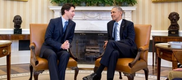 Justin Trudeau and Barack Obama during the Canadian PM's visit at the White House last year. (Wiki/Relations of Canada and the United States)