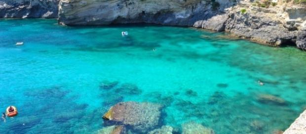 L'incantevole baia di Porto Miggiano.