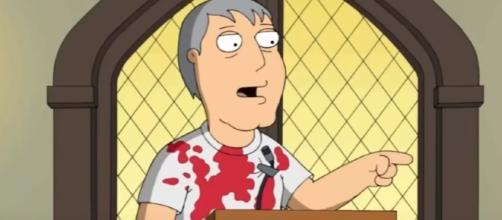 Adam West on 'Family Guy' [Image via YT screenshot Fox Sun official account]