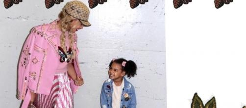 Beyonce and daughter Blue Ivy. Photo via Beyonce, Facebook.