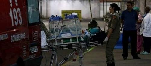 Criança foi transferida em cuidados intensivos para unidade hospitalar