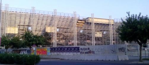 Il settore Tribuna dello Stadio Ezio Scida.