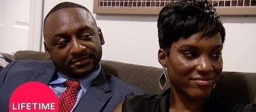 "Nate and Sheila on ""Married at First Sight"" [Image via Lifetime/YouTube screen shot]"