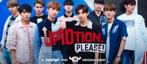 Official poster for 'UP10TION, Please!/Photo via Viki, Soompi, and ZanyBros
