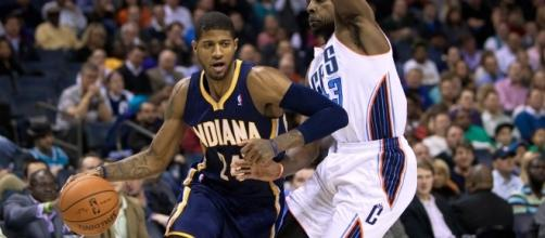 Paul George, former small forward for the Indiana Pacers (Via Wikipedia.com)