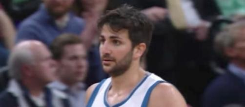 The Timberwolves have sent Ricky Rubio to the Utah Jazz in a trade for a 2018 draft pick. [Image via NBA/YouTube]
