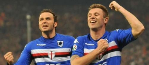 Antonio Cassano e Giampaolo Pazzini di nuovo insieme
