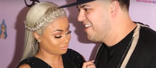 Former engaged pair Blac Chyna and Rob Kardashian are now embroiled in a legal war. (YouTube/TMZ)
