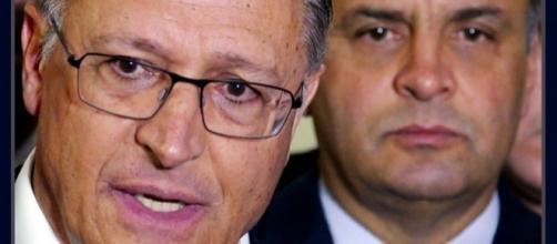 Governador de São Paulo junto com o senador