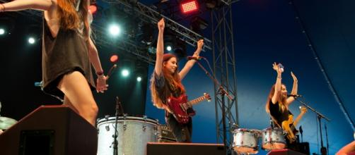 Haim at Way Out West 2013 in Gothenburg, Sweden. Photo credit: Kim Metso via Wikimedia