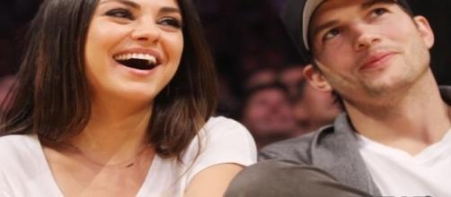 Happy couple Ashton Kutcher and Mila Kunis / Photo via Clevver News , YouTube