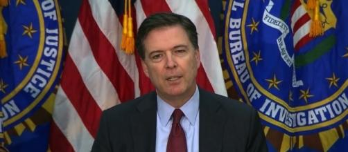 James Comey said what he made public was his personal account of a talk with Trump. Photo via PBSNewshour, YouTube.