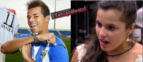 Jota Amâncio e Emilly Araujo bombado nas mídias (Foto: Reprodução)