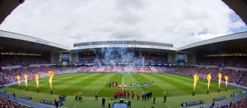 L'Ibrox Stadium, casa del Glasgow Ranger.