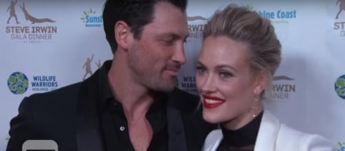 Maksim Chmerkovskiy (L) and Peta Murgatroyd (R) are married. (YouTube/Entertainment Tonight)