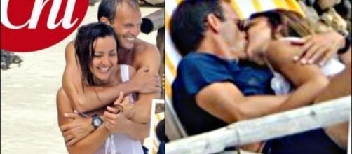 Massimiliano Allegri e Ambra Angiolini coppia dell'estate - dal settimanale Chi.