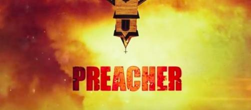 Preacher tv show logo image via a Youtube screenshot