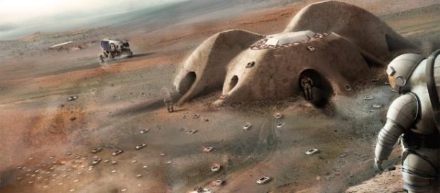 3D printed habitats on Mars (NASA)