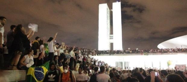 Manifestações em Brasília (Foto: Reprodução)