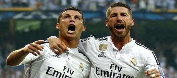 Cristiano Ronaldo y Sergio Ramos, campeones con el Real Madrid