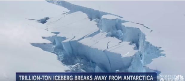 Massive Iceberg Breaks Off Antarctica | Image credit NBC Nightly News | YouTube