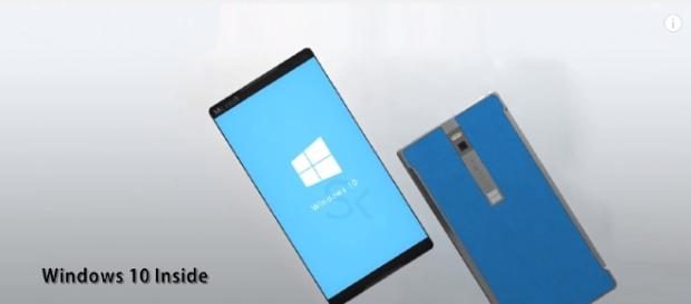 Microsoft Surface Phone 2017 concept and rendering. (Image Credit: Science and Knowledge Channel/Youtube)