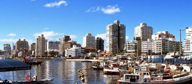 Punta del Este, Uruguai, vista a partir do porto