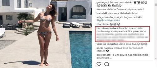 A apresentadora Luciana Gimenez foi criticada (Foto: Reprodução/Instagram)