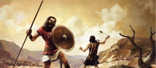 Davi, em sua juventude, derrotando Golias