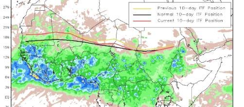 Ecco le precipitazioni sopra la media annua cadute sul territorio sahariano