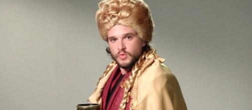 Kit Harington interpreta Cersei Lannister no programa Jimmy Kimmel Live (Foto: Divulgação)