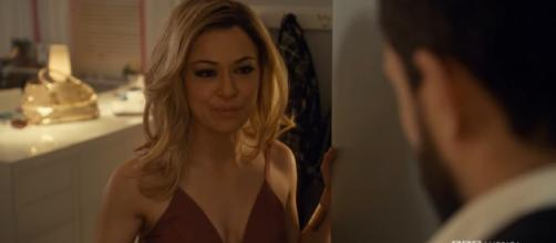 Krystal (Tatiana Maslany) dresses up to meet a mysterious man. What will she find out? (Source: Youtube/BBC America)