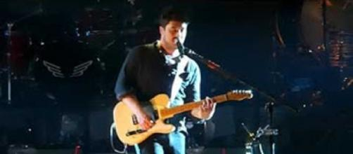 Marcus Mumford and the rest of Mumford & Sons have written songs for a new album while touring non-stop. Screencap Jim Powers/YouTube