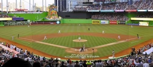 Marlins First Pitch at Marlins Park (creative commons wikimedia.org)