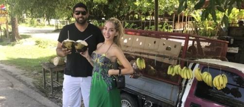 Simon Saran and Farrah Abraham enjoy Jamaica. (Photo via Twitter)
