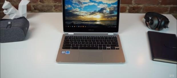 ASUS Chromebook Flip C101- Chrome unboxed/ Youtube screenshot