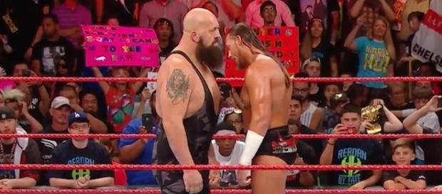 Big Show and Big Cass got into an in-ring altercation during the latest WWE 'Raw' episode from Houston, Texas. [Image via WWE/YouTube]